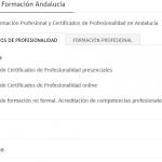 Centros de FP y Certificados de Profesionalidad Andalucía