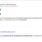 Convocatorias FP-Certificados de Profesionalidad Andalucía
