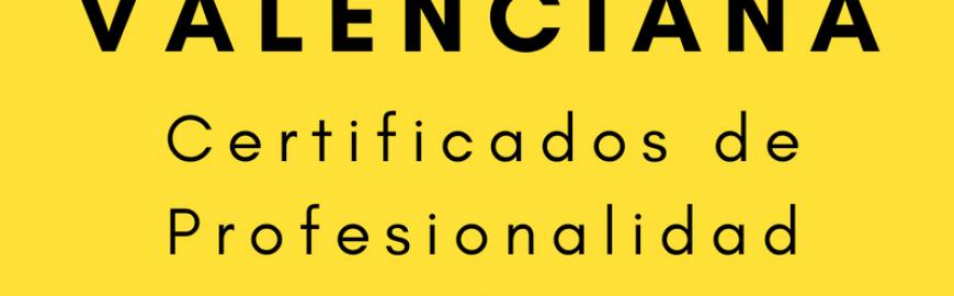 Acreditación de competencias profesionales Comunidad Valenciana 2018